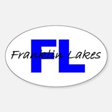 FRANKLIN LAKES, NEW JERSEY Oval Decal