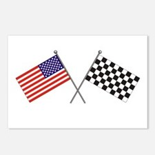 American-Checker Flag Postcards (Package of 8)
