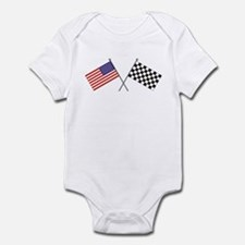 American-Checker Flag Infant Bodysuit