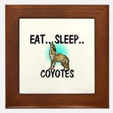 Eat ... Sleep ... COYOTES Framed Tile