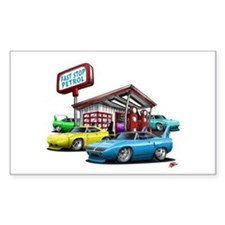 Superbird Gas station scene Rectangle Decal