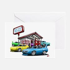 Superbird Gas station scene Greeting Cards (Pk of