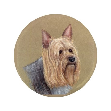 "Silky Terrier 3.5"" Button"