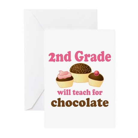 Funny 2nd Grade Greeting Cards (Pk of 10)