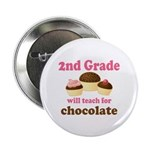 """Funny 2nd Grade 2.25"""" Button"""