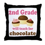 Funny 2nd Grade Throw Pillow