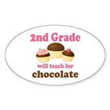 Funny 2nd Grade Oval Decal