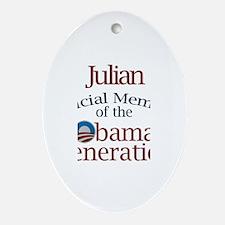 Julian - Obama Generation Oval Ornament