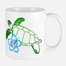 Sea Turtle Hibiscus Blue Mug