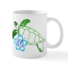 Sea Turtle Hibiscus Blue Small Mug