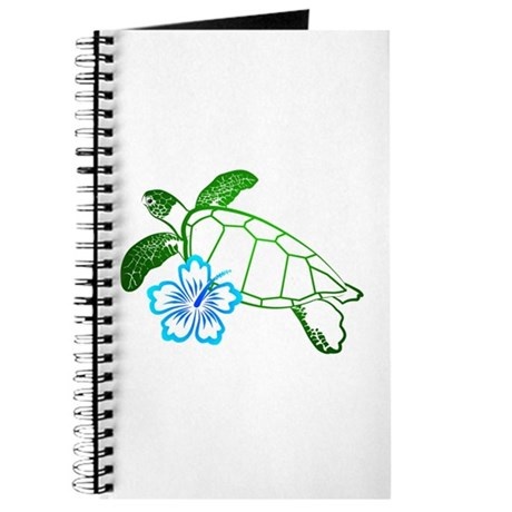 Sea Turtle Hibiscus Blue Journal