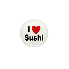 I Love Sushi Mini Button (10 pack)