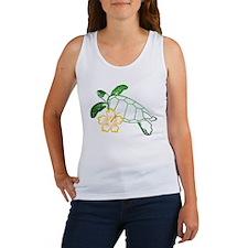 Sea Turtle Hibiscus Yellow Women's Tank Top
