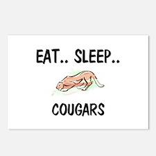 Eat ... Sleep ... COUGARS Postcards (Package of 8)