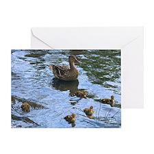 Mamma Duck & Babies BLANK Card (1)
