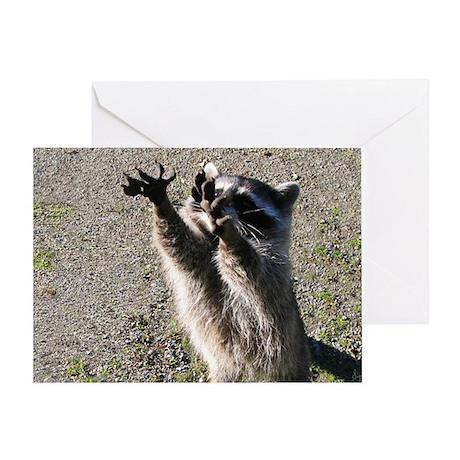 Raccoon's Big Stretch BLANK Card (1)