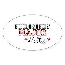Philosophy Major Hottie Oval Decal