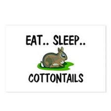 Eat ... Sleep ... COTTONTAILS Postcards (Package o