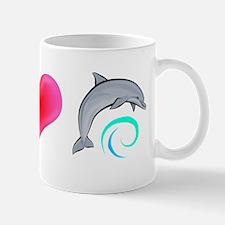 Peace Love Bottlenose Dolphin Mug