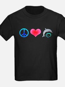 Peace Love Bottlenose Dolphin T