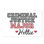 Criminal Justice Major Hottie Postcards (Package o