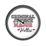 Criminal Justice Major Hottie Wall Clock