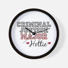 Criminal Justice Major Hottie Wall Clock