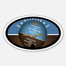 Artificial Horizon Euro Oval Decal