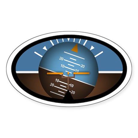 Artificial Horizon Euro Oval Sticker