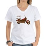 Twilight Jacob Motorcycle Women's V-Neck T-Shirt