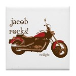 Twilight Jacob Motorcycle Tile Coaster