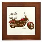 Twilight Jacob Motorcycle Framed Tile