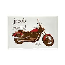 Twilight Jacob Motorcycle Rectangle Magnet