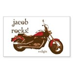 Twilight Jacob Motorcycle Rectangle Sticker