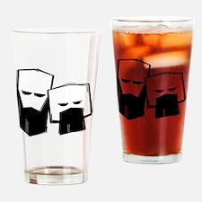 Funny Beards rock Drinking Glass