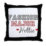 Fashion Major Hottie Throw Pillow