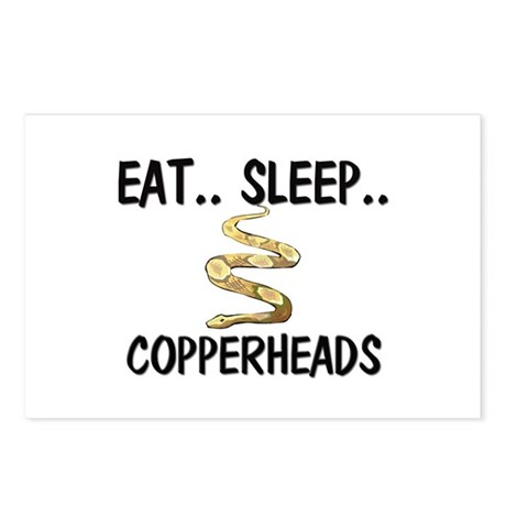 Eat ... Sleep ... COPPERHEADS Postcards (Package o