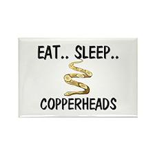 Eat ... Sleep ... COPPERHEADS Rectangle Magnet