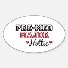 Pre-Med Major Hottie Oval Decal