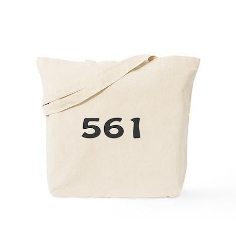 561 Area Code Tote Bag
