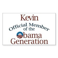 Kevin - Obama Generation Rectangle Decal