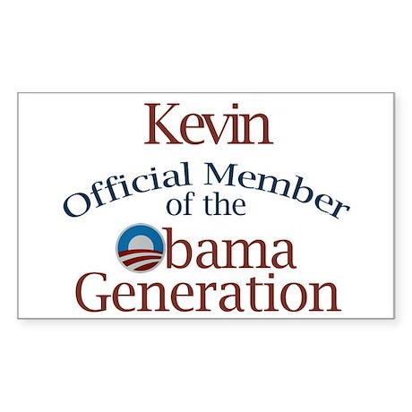 Kevin - Obama Generation Rectangle Sticker