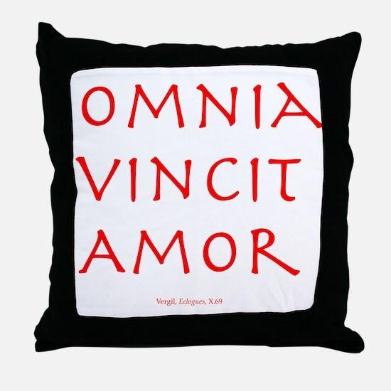CANE Omnia Vincit Amor Throw Pillow