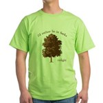 Twilight I'd Rather Be in Forks Green T-Shirt