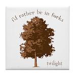 Twilight I'd Rather Be in Forks Tile Coaster