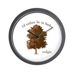 Twilight I'd Rather Be in Forks Wall Clock