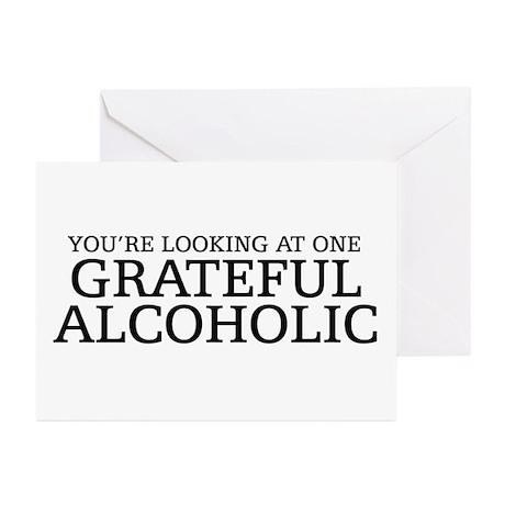 Grateful Alcoholic Greeting Cards (Pk of 10)