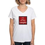 Twilight Say Vampire Women's V-Neck T-Shirt