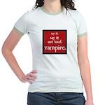 Twilight Say Vampire Jr. Ringer T-Shirt