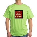 Twilight Say Vampire Green T-Shirt